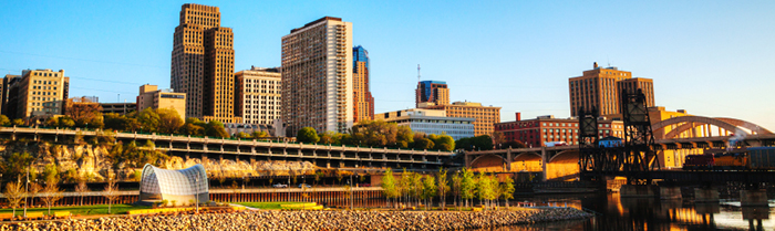Image of downtown St. Paul Minnesota from the river