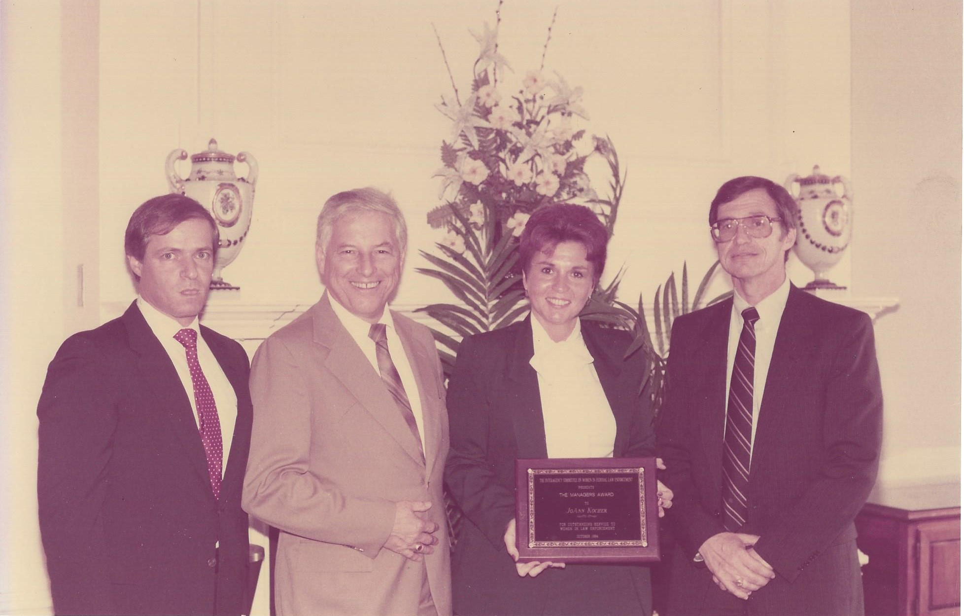 Jo Ann Kocher honored by WIFLE and bestowed her its first Managers Award