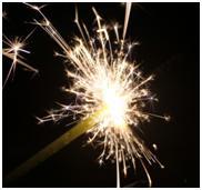 Imagen de fuegos artificiales explotando
