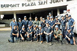 Picture of ATF Team posing in front of Dupont Plaza Hotel, San Juan, Pueto Rico