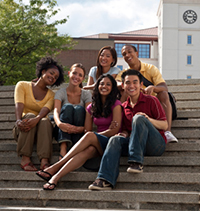 Image of young college students