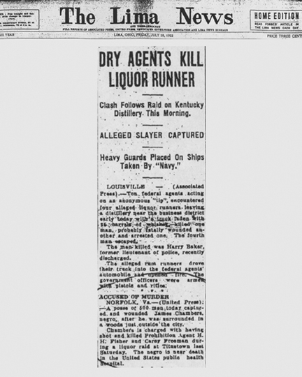 Newspaper article regarding Cary Freeman.