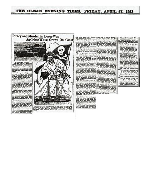 Newspaper article regarding  Charles Howell