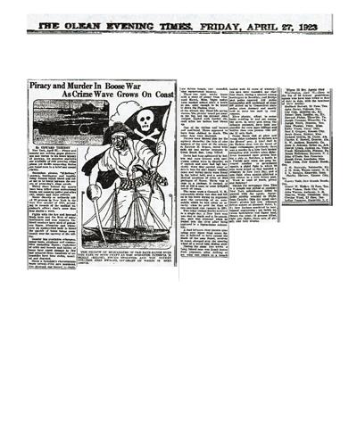 Newspaper article regarding Ernest Walker