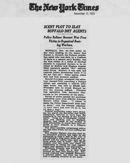 Newspaper article regarding George Stewart