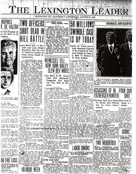 Newspaper article regarding John Reynolds