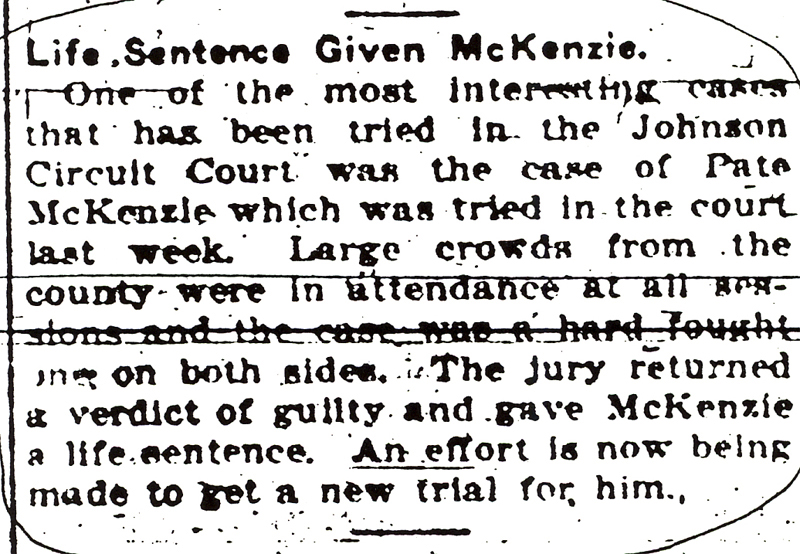 Newspaper article regarding John Reynolds' killer.