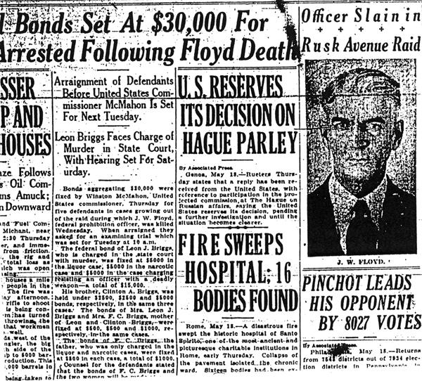 Newspaper article regarding Joseph Floyd.