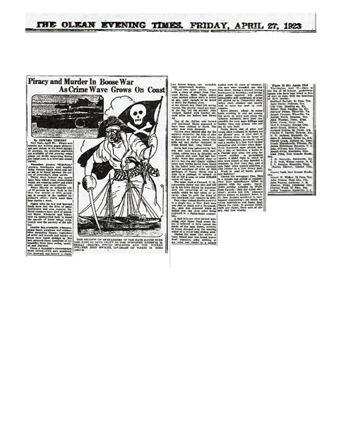 Newspaper article regarding Kirby Frans