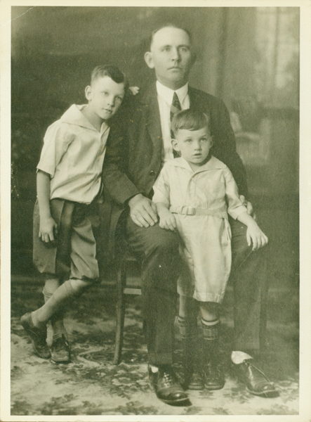 Image of Patrick C. Sharp and his two sons, Vernon and William