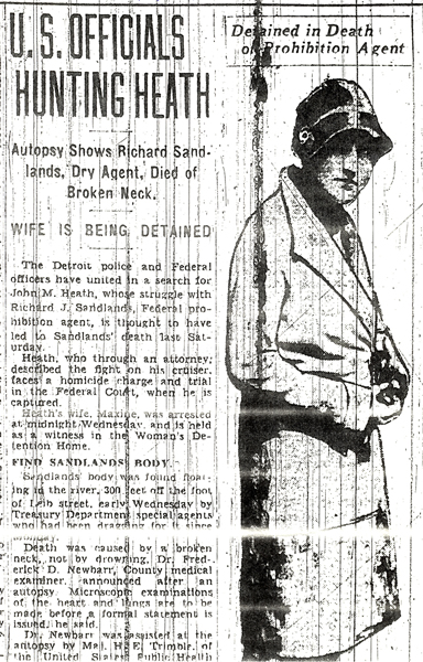 Image of a newspaper article with the headline, U.S. Officials Hunting Heath