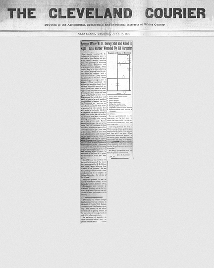 Image of the The Cleavland Times newspaper article.