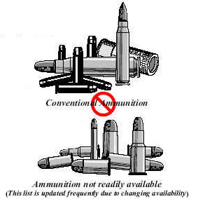Image of an illustration showing the differences between convention and unconventional ammunition.