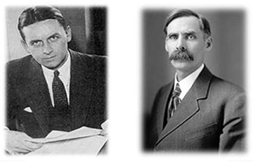 Image of Eliot Ness (left) & Andrew Volstead (right)