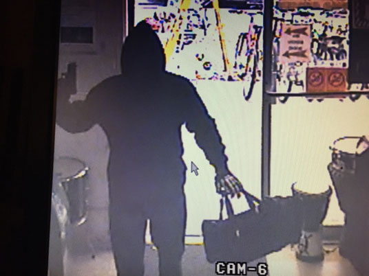 Image Suspect 3 (Edgewater robbery only) – Black female, wearing black pants and black shoes with a black hoodie pulled up and black ski mask. She was wearing black gloves.