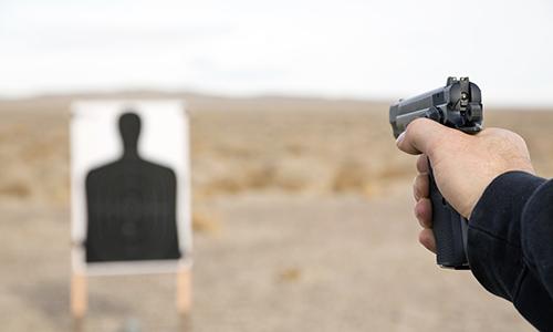 Image of target shooting