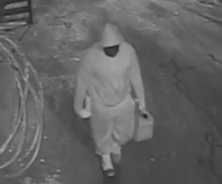 Image 1 of suspect in Commercial Arson, Fayetteville, NC