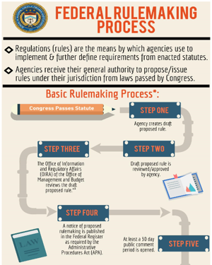 A thumbnail picture of the Federal Rulemaking Process infographic.