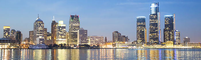 Image of Detroit Michigan's skyline