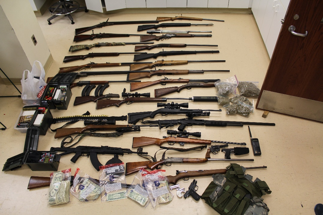 Four Time Felon Sentenced to 68 Months for Possessing 26 Firearms