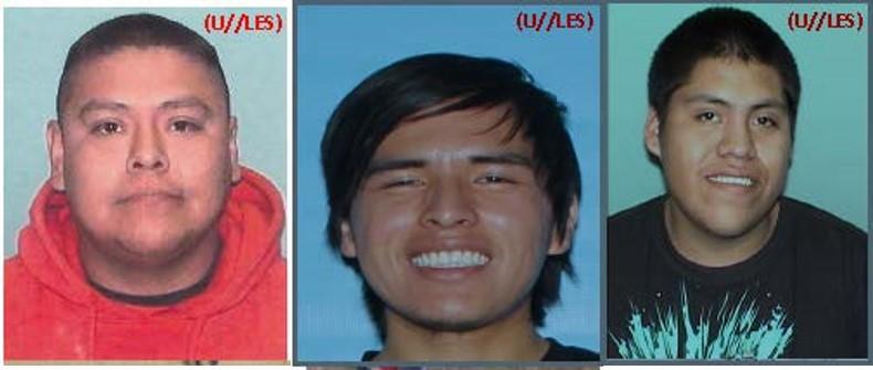 Image of mugshot photos for Brennon Nastacio, Brandon Miller-Castillo, and Dion Ortiz