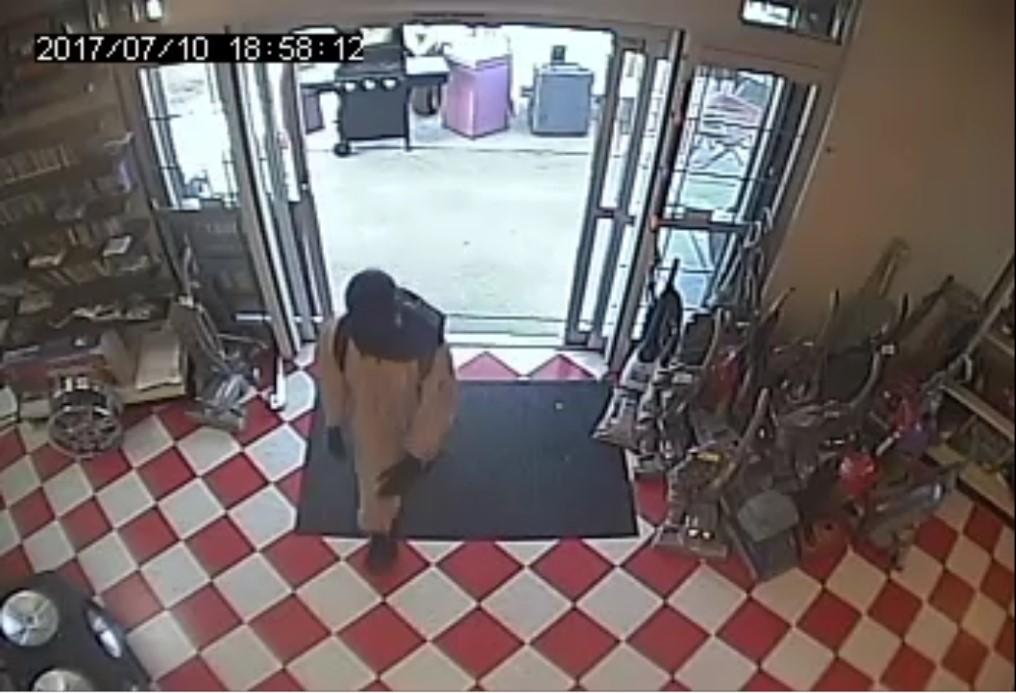 Image of the Houston Cash Pawn roberry suspect
