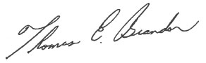 Signature of Thomas E. Brandon