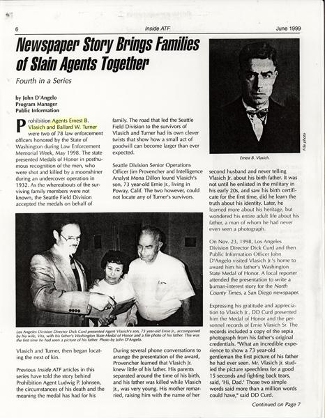 Image of Inside ATF Newsletter - June 1999