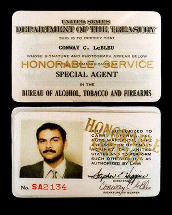 image of the credentials for Special Agent Conway LeBleu