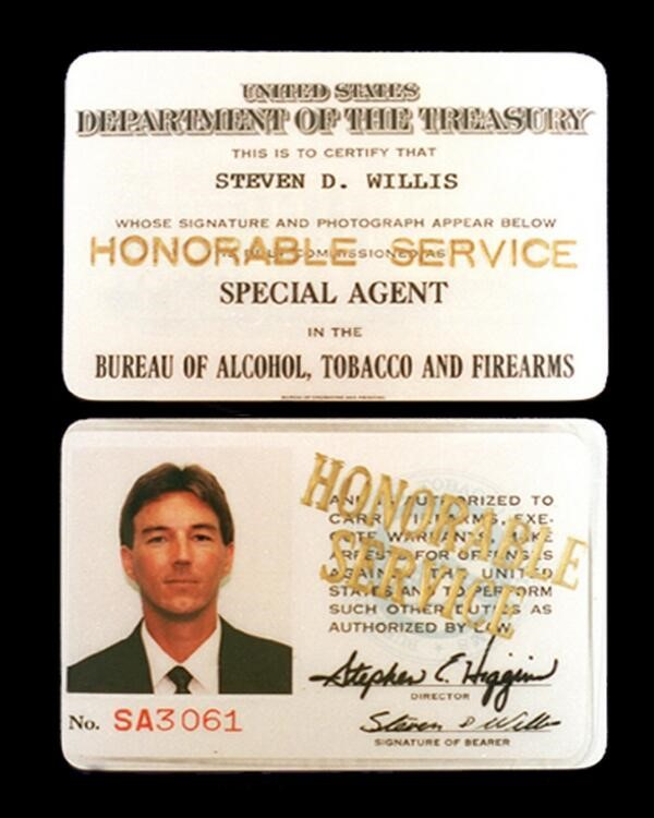 Image of Fallen Special Agent Steven Willis' credentials