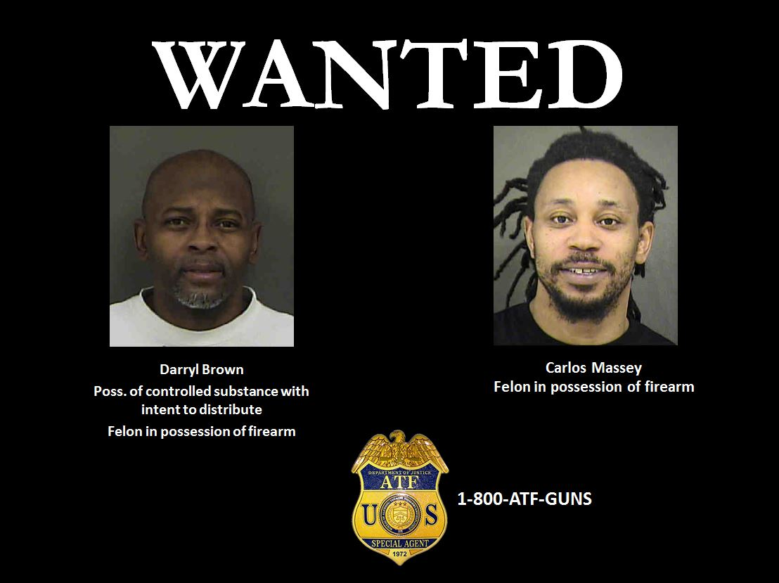 Image of Darryl Brown and Carlos Massey who are still wanted.