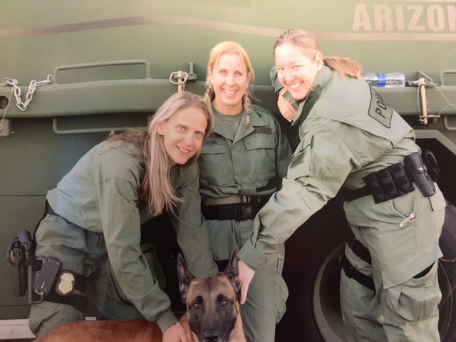 An image of Nicole Strong (center) and two other female agents