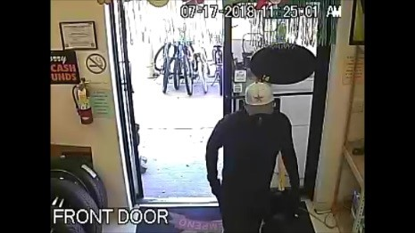 Suspect entering into the El Bufalo Pawn on July 17
