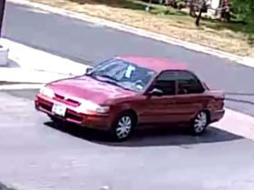 Image of the vehicle used during the Cash America Pawn robbery