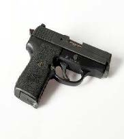 An image of a small hand gun similar to the one stolen from the Gun Works of Central New York FFL store.