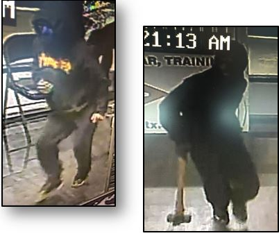 Image of suspect in robbery of Phantom Tactical, Houston, TX