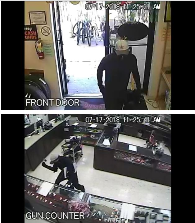 Imagen de un sospechoso en el robo de Cabela's - Houston, Texas