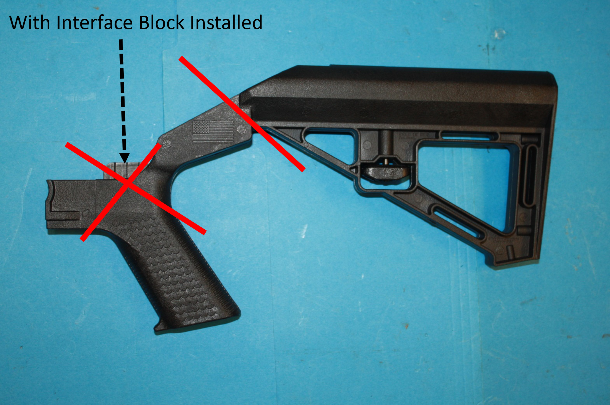 Slide Fire Solutions Bump Stock with interface installed