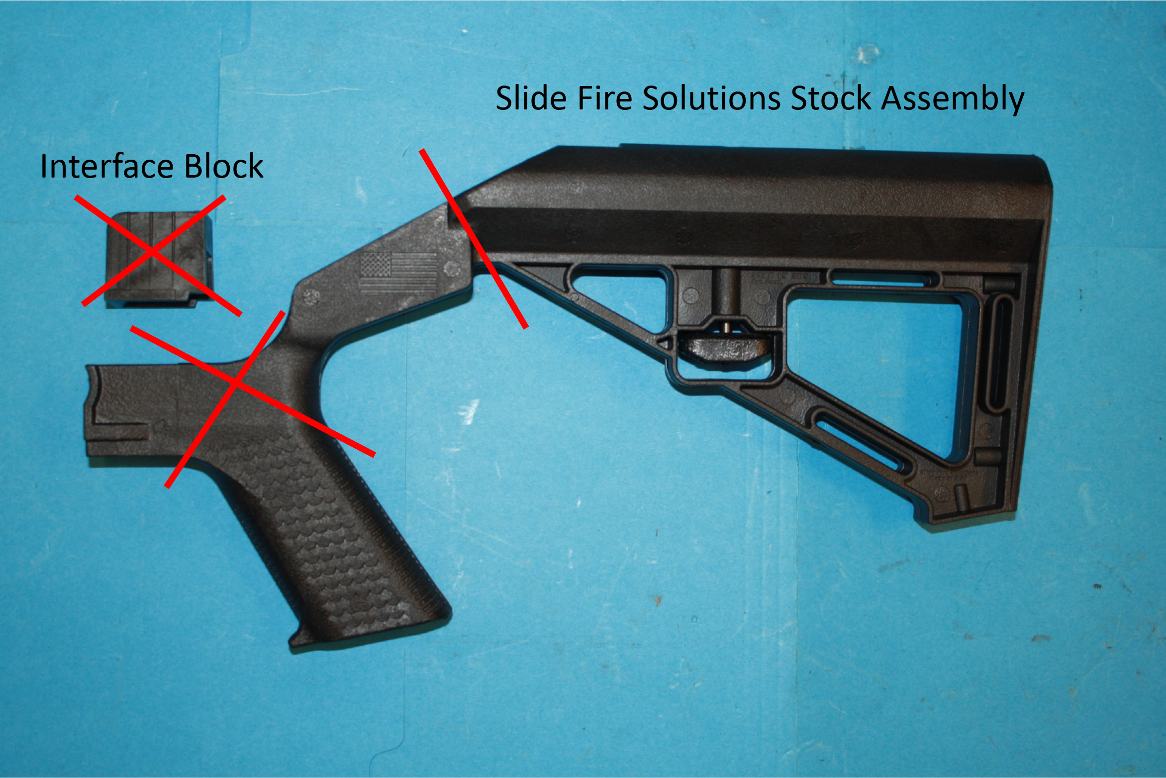 Slide Fire Solutions Bump Stock without interface