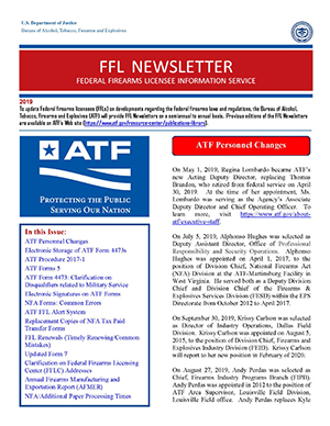 Cover of the 2019 FFL Newsletter