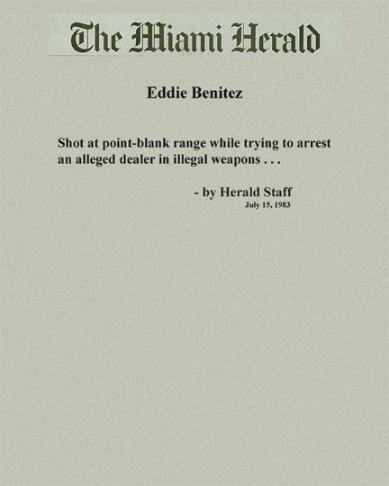 Quote from a Miami Herald staff writer about Eddie Benitez