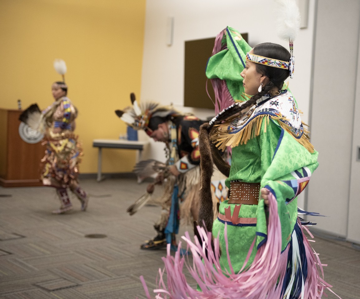 The Piscataway Indian Nation Singers and Dancers at ATF's 2020 Native American Heritage Month celebration