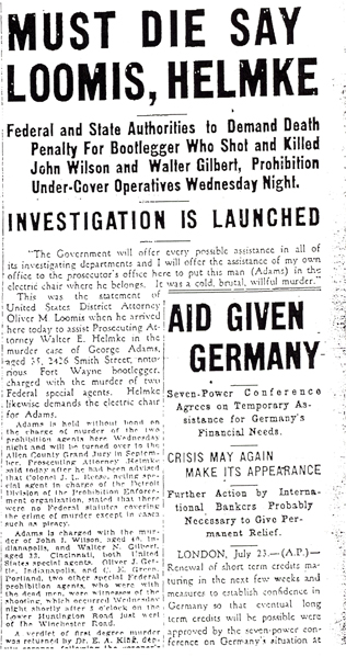 John Wilson and Walter Gilbert, undercover agents killed