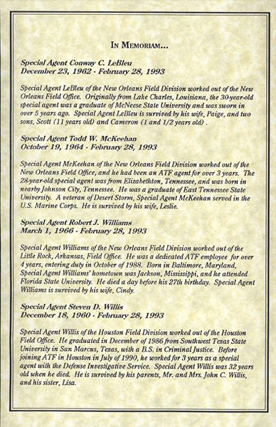 Memorial Service Program: In Memoriam (3 of 4)
