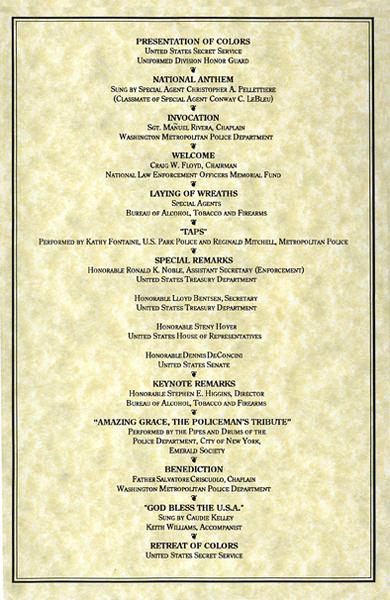Memorial Service Program: Order of Service (4 of 4)