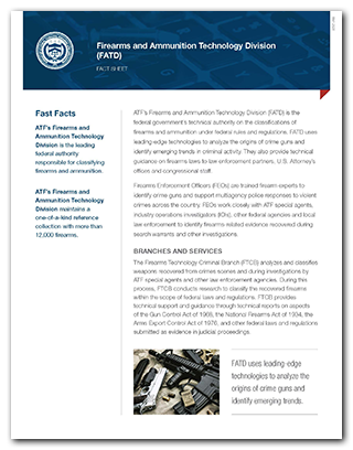 Preview of the FATD Fact Sheet PDF for print.