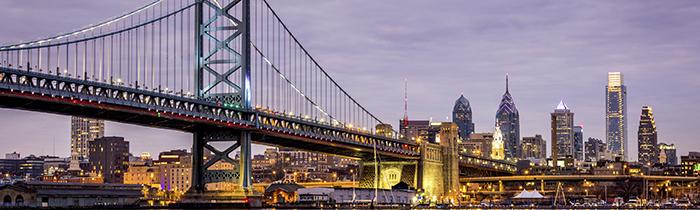 El puente de Ben Franklin en Filadelfia