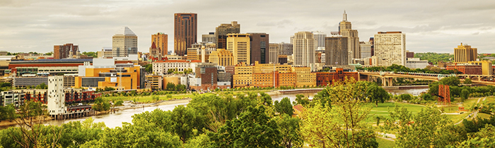 Image of the Saint Paul Minnesota skyline