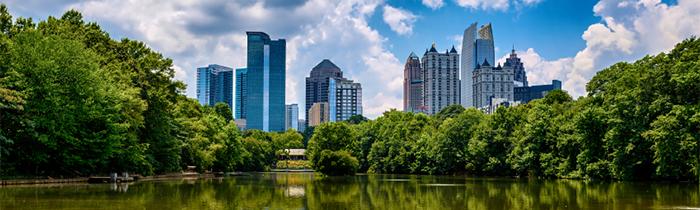 Línea del horizonte del centro de Atlanta