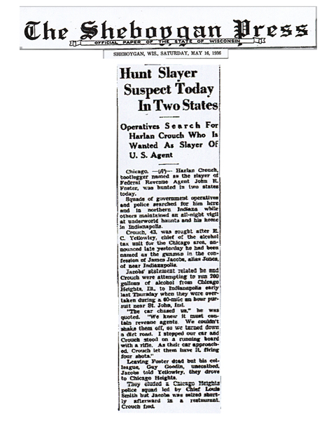 Newspaper article from The Sheboggan Press, with headline: Hunt Slayer Suspect Today In Two States